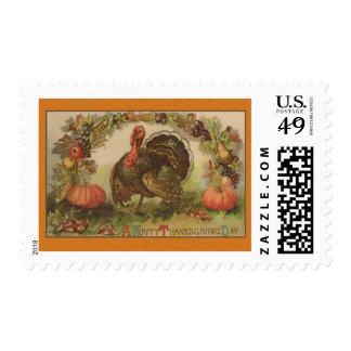 Happy Thanksgiving Vintage Art Cards Stamp