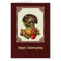 Happy Thanksgiving. Vintage Design Greeting Cards