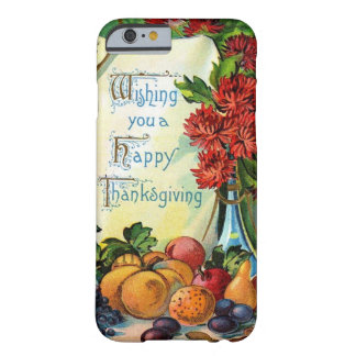 Happy Thanksgiving Vintage Fall Harvest Art Barely There iPhone 6 Case