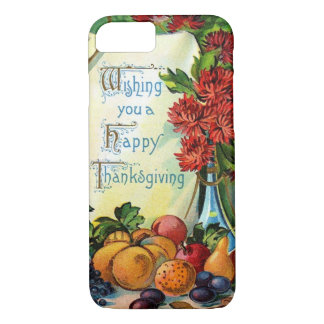 Happy Thanksgiving Vintage Fall Harvest Art iPhone 7 Case