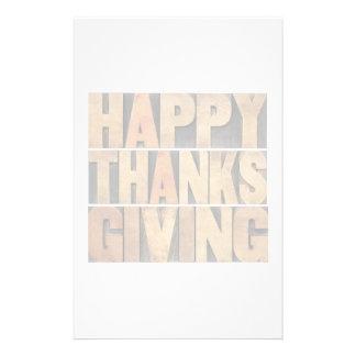 Happy Thanksgiving - Vintage Stationery