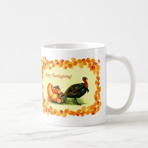 Happy Thanksgiving. Vintage Style Gift Mug
