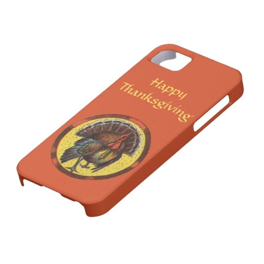 Happy Thanksgiving Vintage Turkey Gobbler Art iPhone SE/5/5s Case