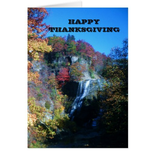 HAPPY THANKSGIVING WATERFALL card