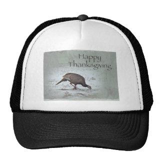 Happy Thanksgiving Wild Turkey Mesh Hats