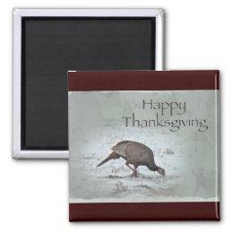 Happy Thanksgiving Wild Turkey Magnet