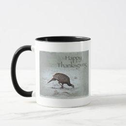 Happy Thanksgiving Wild Turkey Mug