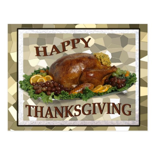 Happy Thanksgiving Wishes Post Card - Customize it