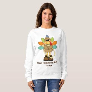 Happy Thanksgiving wishes turkey sweatshirt