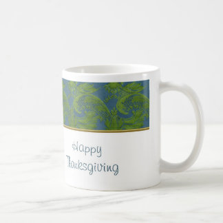 Happy Thanksgiving with fabric pattern Coffee Mug
