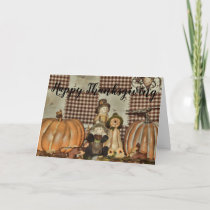 Happy Thanksgiving with Fall Theme Card