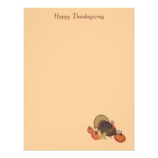 Happy Thanksgiving with Turkey Letterhead