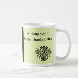 Happy Thanksgiving with wheat harvest Coffee Mug