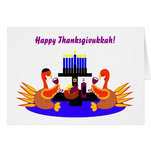 Happy Thanksgivukkah Funny Turkey Invitations Greeting Card