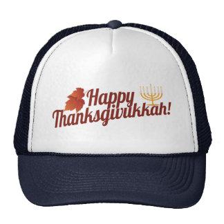 Happy Thanksgivukkah Menorah/Leaf Hat