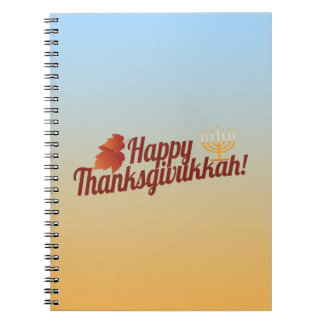 Happy Thanksgivukkah Menorah/Leaf Spiral Note Book