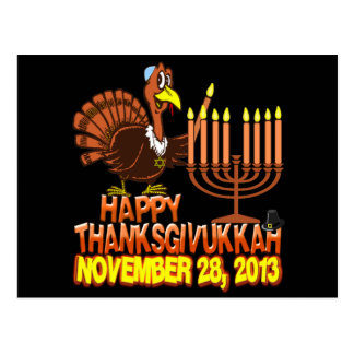 Happy Thanksgivukkah Postcard