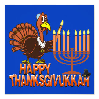 Happy Thanksgivukkah Thankgiving Hanukkah Invites