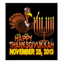 Happy Thanksgivukkah Thankgiving Hanukkah Poster