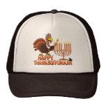 Happy Thanksgivukkah - Thankgiving Hanukkah Tshirt Mesh Hats