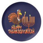 Happy Thanksgivukkah Turkey & Menorah Plates