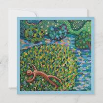 Happy thankyou Art print card