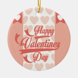 happy the Valentins Ceramic Ornament
