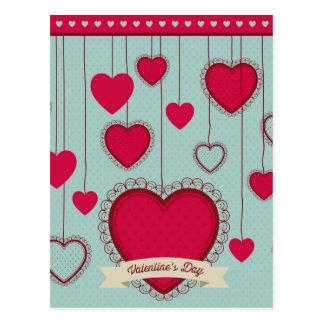 happy the Valentins Postcard