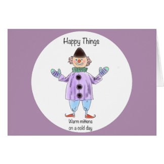 Happy Things – Mittens Card