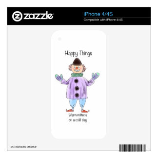 Happy Things – Mittens Decal For The iPhone 4