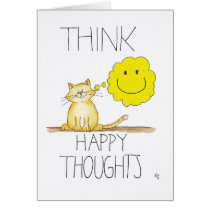 HAPPY THOUGHTS greeting card by Nicole Janes