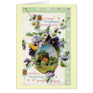 Tender thoughts cards greeting photo cards zazzle happy thoughts tender fancies 1915 vintage card m4hsunfo