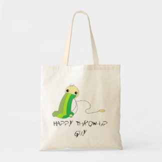 Happy Throw-Up Guy Budget Tote
