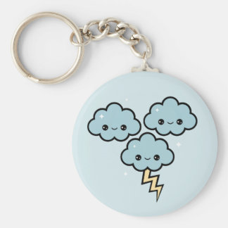 Happy Thunder Clouds Keychain