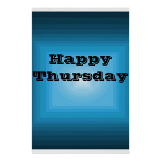 Happy Thursday Blue Color code Poster Day of Week