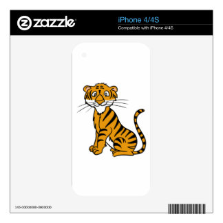 Happy Tiger Cub Skin For iPhone 4S
