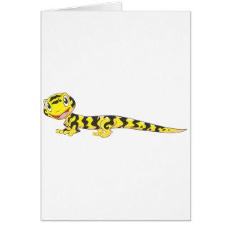 Happy Tiger Salamander Cartoon Card