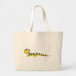 Happy Tiger Salamander Cartoon Large Tote Bag