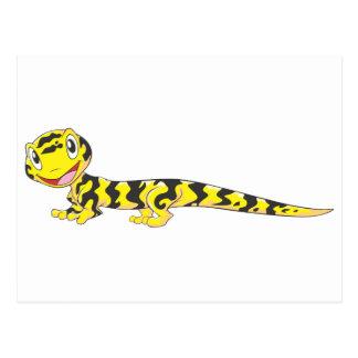 Happy Tiger Salamander Cartoon Postcard