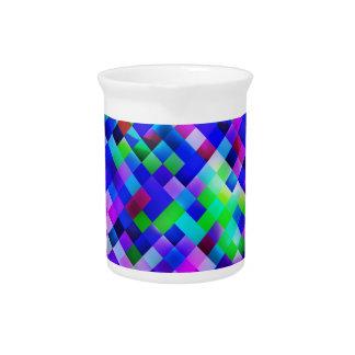 happy tiles blue (C) Beverage Pitcher