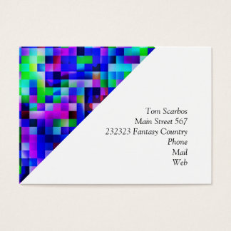 happy tiles blue (C) Business Card