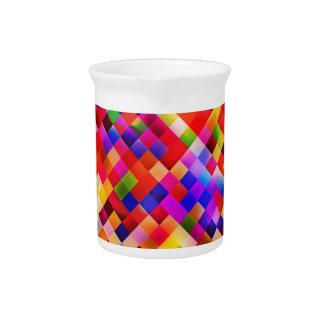 happy tiles red (C) Beverage Pitcher