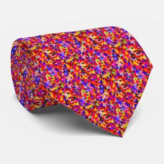 happy tiles red (C) Neck Tie