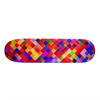 happy tiles red (C) Skateboard Deck