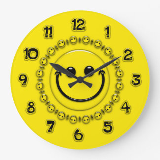 Happy Time Smiley Face Clock