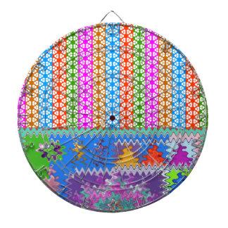 Happy Times : Feminine Energy Pattern Dartboard