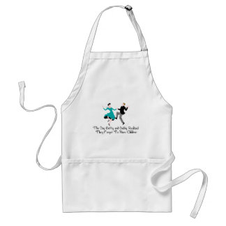Happy To Be Child Free Adult Apron
