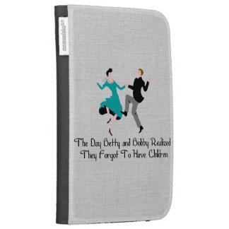 Happy To Be Child-Free Kindle Folio Cases