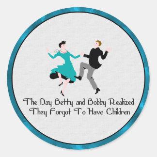 Happy To Be Child Free Classic Round Sticker