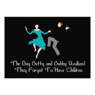 Happy To Be Child Free Custom Invites